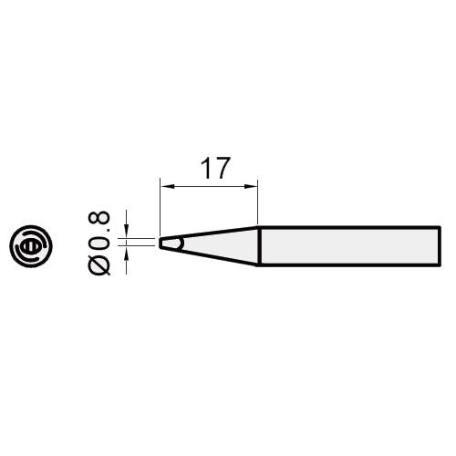 Жало паяльне Pro'sKit 5SI-216N-0.8D