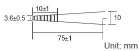 Размері пинцета Pro'sKit 1PK-108T