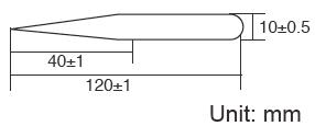 Размеры пинцета Pro'sKit 1PK-125T